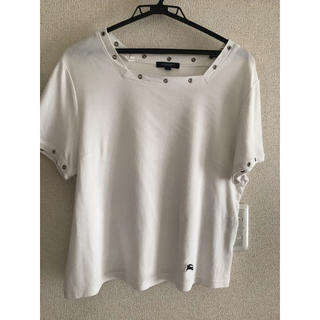 バーバリー(BURBERRY)のBURBERRY 白トップス(Tシャツ(半袖/袖なし))