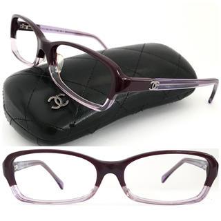 CHANEL - シャネル ダークパープル×ラベンダー バイカラー ココ メガネ 上品♡クラシカル