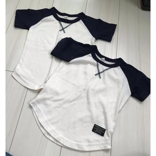 ニシマツヤ(西松屋)のラグランTシャツ 2枚セット 90サイズ(Tシャツ/カットソー)