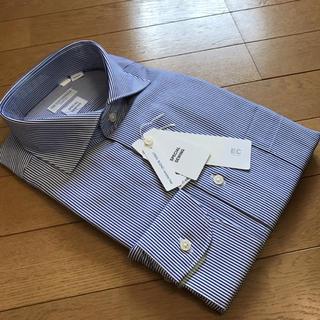 スーツカンパニー(THE SUIT COMPANY)のスーツカンパニー長袖ドレスシャツL41-88cm カッタウェイストライプリネン混(シャツ)