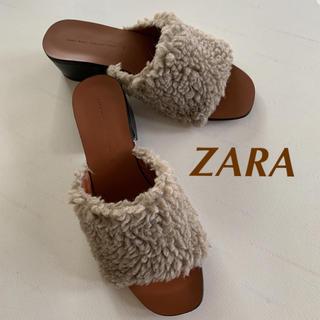 ZARA - ZARA ザラ ファーサンダル 35  22.5