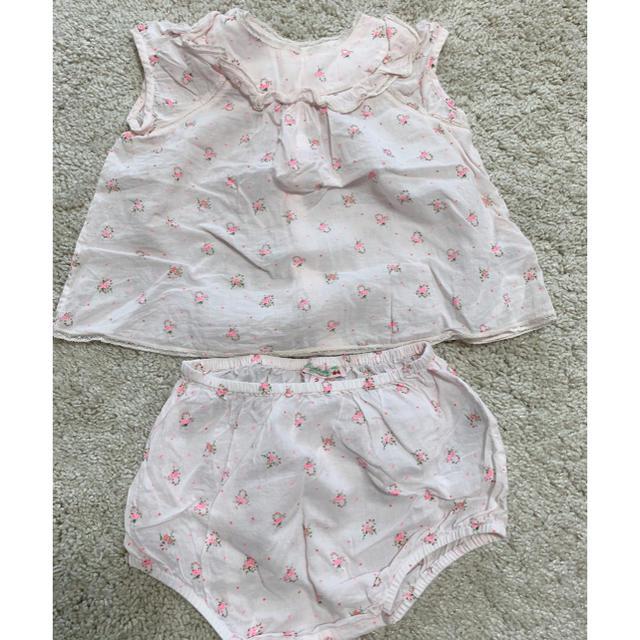 Bonpoint(ボンポワン)のBonpoint ボンポワン リバティ 花柄 トップス パンツ 2a セット キッズ/ベビー/マタニティのキッズ服女の子用(90cm~)(ブラウス)の商品写真