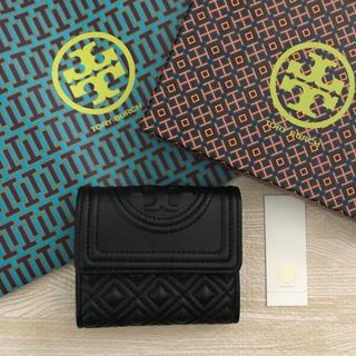 Tory Burch - 新品!トリーバーチ 三つ折り財布 ブラック 黒