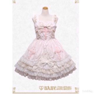 ベイビーザスターズシャインブライト(BABY,THE STARS SHINE BRIGHT)のBABY ♡ Easter Bunny JSK ケープ セット (ひざ丈ワンピース)