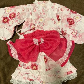ニシマツヤ(西松屋)の子供浴衣甚兵衛90センチ(甚平/浴衣)