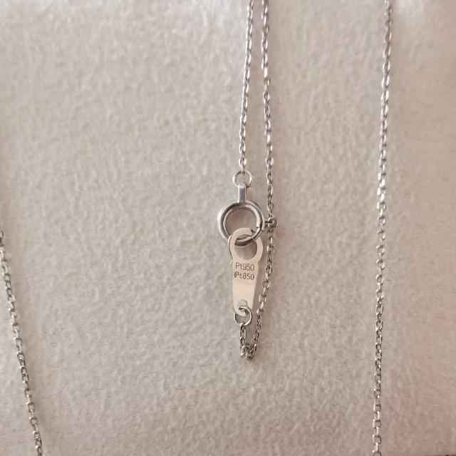 Vendome Aoyama(ヴァンドームアオヤマ)のネックレス プラチナ ダイヤ レディースのアクセサリー(ネックレス)の商品写真