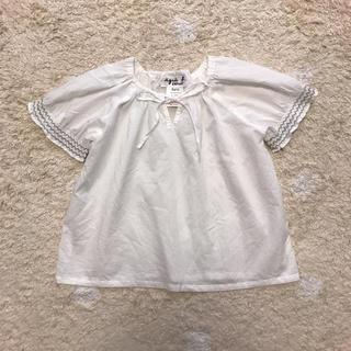 アニエスベー(agnes b.)のアニエスベー  スモッキング ブラウス チュニック 120(Tシャツ/カットソー)