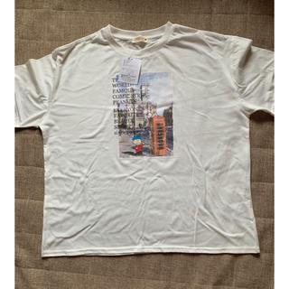 スヌーピー(SNOOPY)のSNOOPY  Tシャツ レディース  ホワイト (Tシャツ(半袖/袖なし))