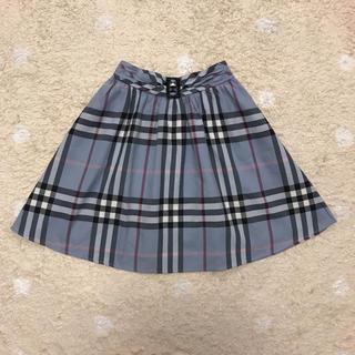 バーバリー(BURBERRY)のバーバリー   ノバチェック スカート  160(スカート)
