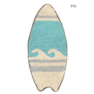 【ナル】マット サーフボード S/玄関マット/波柄/ウェーブ