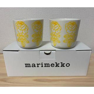マリメッコ(marimekko)の新品 marimekko マリメッコ ヴィヒキルース ラテマグ イエロー(グラス/カップ)