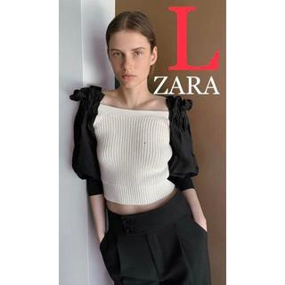 ZARA - ZARA ザラ 新品 コントラストディテール入りセーター L
