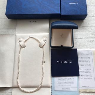 ミキモト(MIKIMOTO)の❤︎新品未使用ミキモトベビーパールネックレス&ペンダントトップ❤︎(ネックレス)