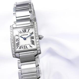 Cartier - 【仕上済】カルティエ フランセーズ SM ダイヤ レディース 腕時計