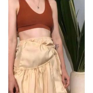 ロンハーマン(Ron Herman)のベースレンジ  シルク スカート(ひざ丈スカート)