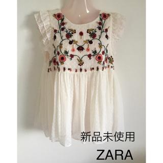ZARA - 未使用♦︎ZARA 刺繍トップス