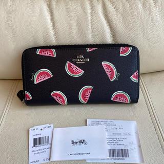 COACH - COACH コーチ 新品 新作 ブラック スイカ かわいい 長財布