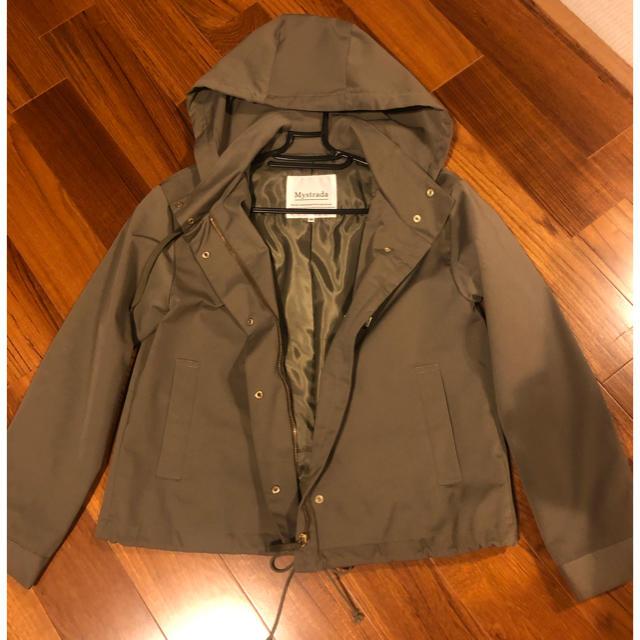 Mystrada(マイストラーダ)のマイストラーダ❤️ライトフードブルゾン36カーキ レディースのジャケット/アウター(ブルゾン)の商品写真