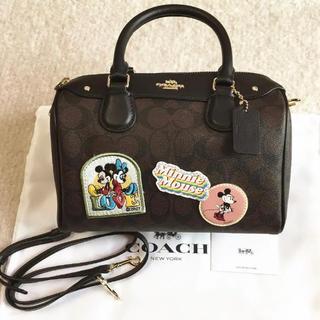 Disney - 新品 コーチ ディズニー コラボ シグネチャー 2ウェイ バッグ