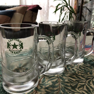 ビールジョッキー 3個 北海道生ビール【未使用】