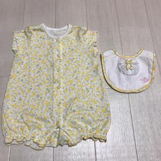 mikihouse - ミキハウス 花柄ショートオール スタイセット
