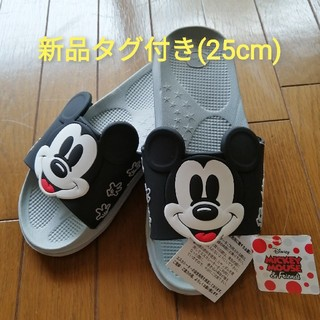 ディズニー(Disney)の【即購入OK(^-^】ミッキーマウス シャワーサンダル 新品タグ付き 25cm2(サンダル)