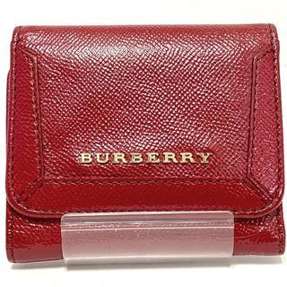 BURBERRY - バーバリー 3つ折り財布 - レッド レザー