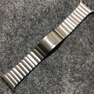 Apple - 美品 純正 apple watch 38mm リンクブレスレット シルバー