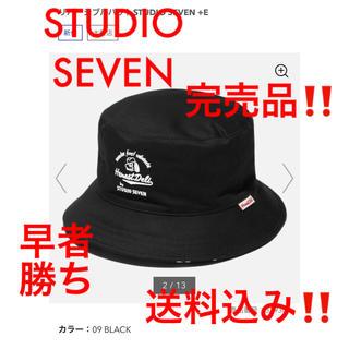 ジーユー(GU)の【新品★送料込み‼️】リバーシブルハットSTUDIO SEVEN ブラック(ハット)