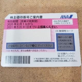 ANA(全日本空輸) - ANA 株主優待券 2021年 5/31期限