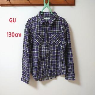 GU - guキッズチェックシャツ130cm