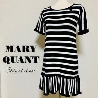 MARY QUANT - MARY QUANT ブローチ付 半袖ワンピース マリークワント