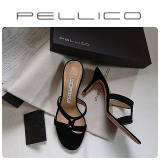 PELLICO - VERY掲載★新品 ペリーコ 定番 サンダル ブラック 36.5 定価52800