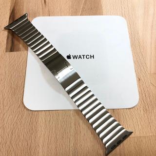Apple - 美品 純正 apple watch  42mm シルバー リンクブレスレット