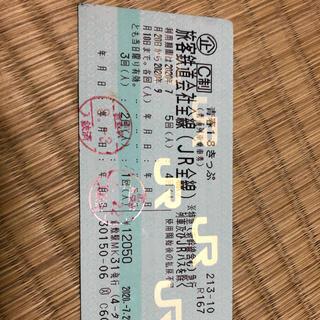 【返却不要】せいしゅん18きっぷ 2回券(鉄道乗車券)