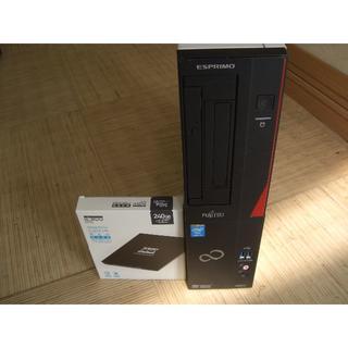 フジツウ(富士通)の富士通 ESPRIMO  Core i7-4770  240GB SSD(デスクトップ型PC)