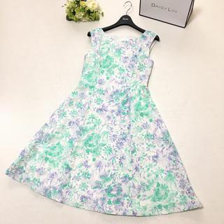 René - 新品同様 2018年 ルネ Rene 美しいシルエット 花柄 ドレス ワンピース