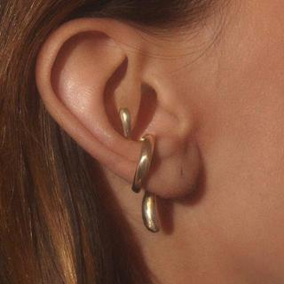 HYKE - gold nude  ear cuff