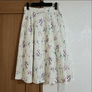 デビュードフィオレ(Debut de Fiore)のボタニカルミディスカート(ひざ丈スカート)