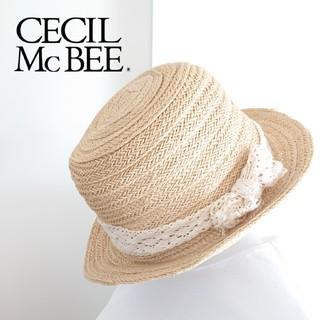CECIL McBEE - ♡CECIL McBEE♡レースリボン付ストローハット♡