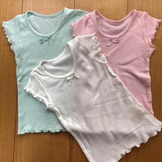 ベルメゾン(ベルメゾン)のフレンチスリーブ インナーシャツ 80 3枚組(肌着/下着)