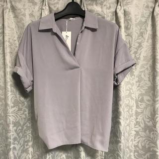 アラマンダ(allamanda)の新品!アラマンダ*バックリボン半袖とろみシャツ(シャツ/ブラウス(半袖/袖なし))
