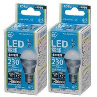 アイリスオーヤマ(アイリスオーヤマ)の2個★ LED電球口金E17★25w相当小昼白色LDA4N-H-E17-V6(蛍光灯/電球)