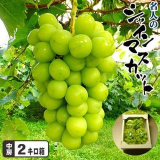 岡山県産、高級シャインマスカット2kg
