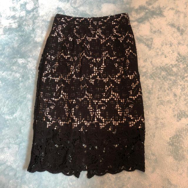 FRAY I.D(フレイアイディー)のFRAY I.Dレーススカート レディースのスカート(ひざ丈スカート)の商品写真