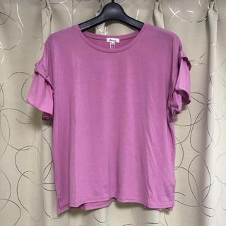 アラマンダ(allamanda)の新品!アラマンダ*フリル袖カットソー*Tシャツ*Mサイズ(Tシャツ(半袖/袖なし))