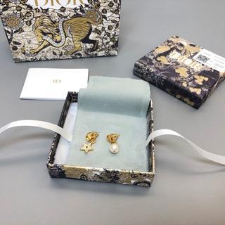 Dior - Dior スタッドピアス  star パール