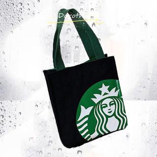 Starbucks Coffee - 【スターバックス】  キャンバストートバッグ  ブラック縦27cm×25.5cm