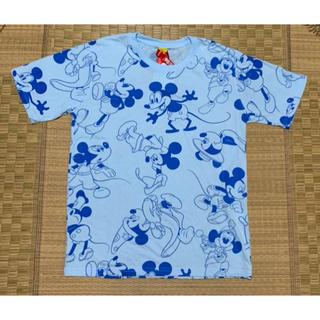 ミッキーマウス(ミッキーマウス)の新品.ミッキー Tシャツ.ミッキーTシャツ.ミッキー 総柄Tシャツ.ミッキー(Tシャツ(半袖/袖なし))