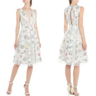 グッチ(Gucci)の美品!N°21 フローラル柄ドレス IT40サイズ(ひざ丈ワンピース)